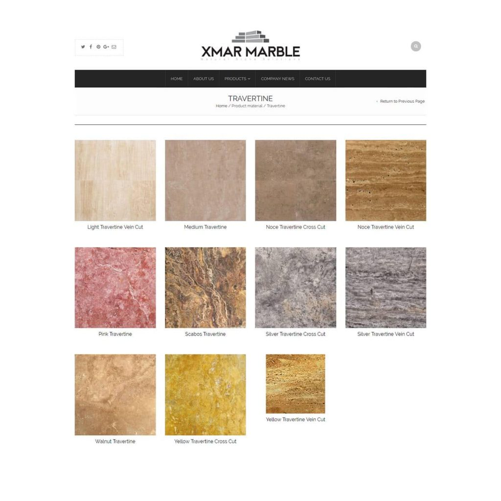 Travertine Product Category